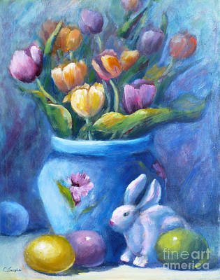 Painting - Easter Still Life by Carolyn Jarvis