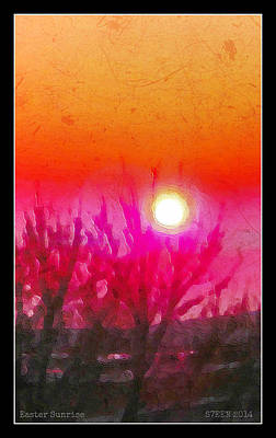 Digital Art - Easter Sunrise by Christine Nichols