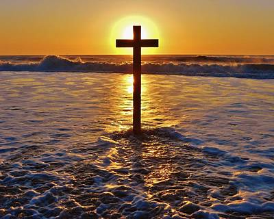 Easter Sunrise Cross Outer Banks 1 Art Print