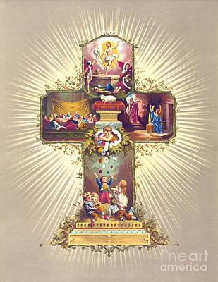 Art Lithographs Photograph - Easter Symbols 1877 by Padre Art