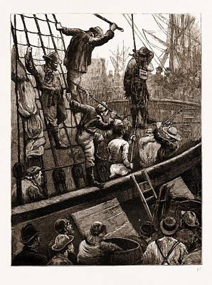 Easter-tide Ceremonies Flogging Judas Iscariot Print by Litz Collection
