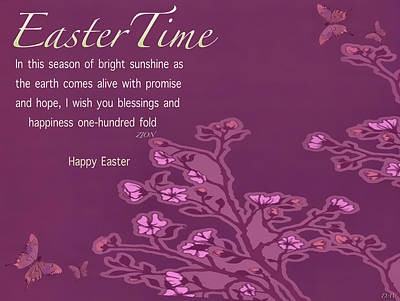 Photograph - Easter Time Card by Debra     Vatalaro