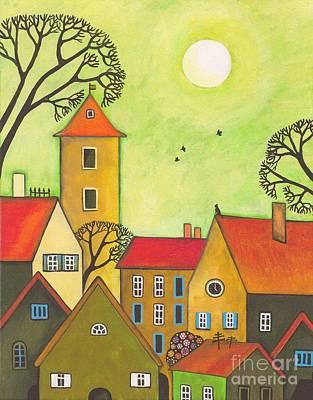 Easter Tyme In German Town Art Print by Margaryta Yermolayeva