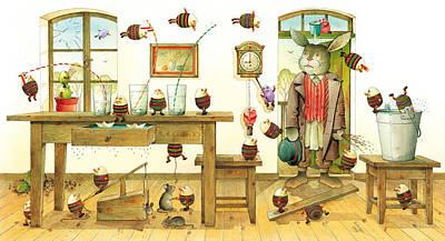 Painting - Eastereggs 01 by Kestutis Kasparavicius