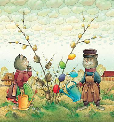Easter Drawing - Eastereggs 05 by Kestutis Kasparavicius