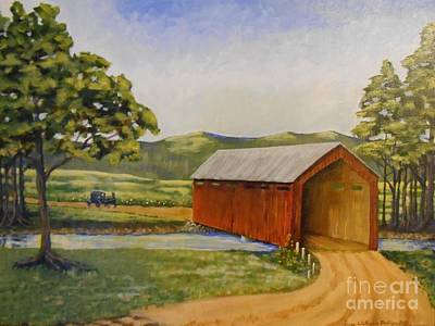 Eastern Covered Bridge Art Print