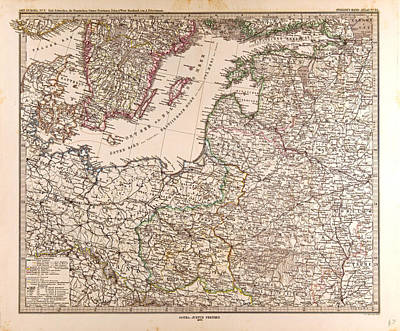 Eastern Europe Drawing - Eastern Europe Map 1873 Gotha Justus Perthes 1872 Atlas by English School