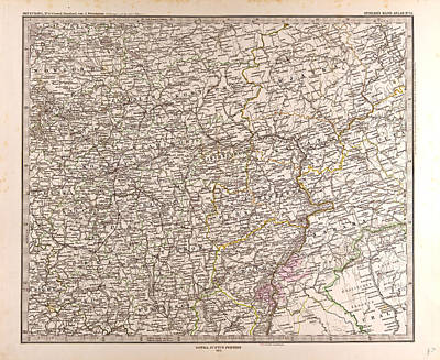 Eastern Europe Drawing - Eastern Europe Map 1873 Gotha Justus Perthes Atlas by English School