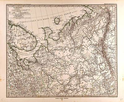 Eastern Europe Drawing - Eastern Europe Russia Map 1873 Gotha Justus Perthes 1872 by English School
