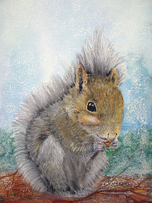 Painting - Eastern Gray Squirrel by Loretta Luglio