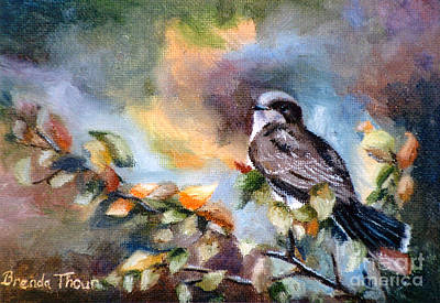 Painting - Eastern Kingbird by Brenda Thour
