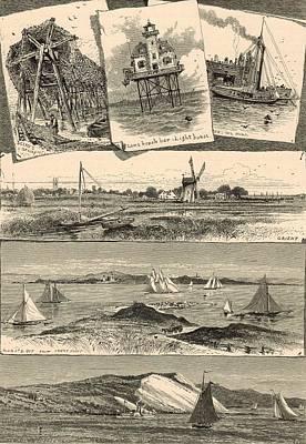 Eastern Point Painting - Eastern Long Island Scenes 1872 Engraving by Antique Engravings