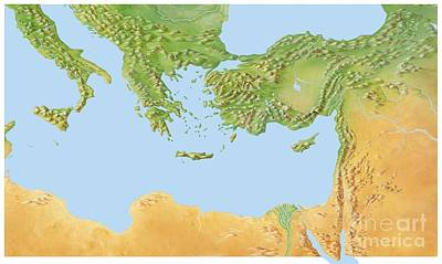 Eastern Mediterranean, Artwork Art Print by Gary Hincks