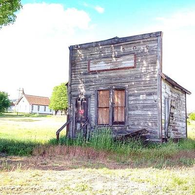 Instagood Photograph - Eastern Oregon Road Trip An Old Shop by Blenda Studio