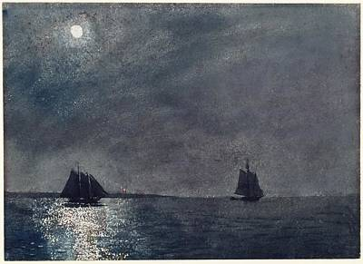 Eastern Point Painting - Eastern Point Light by Winslow Homer
