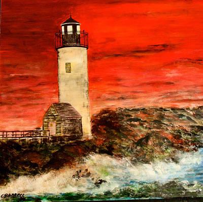 Eastern Point Lighthouse Gloucester Massachusetts Original by Mark Prescott Crannell