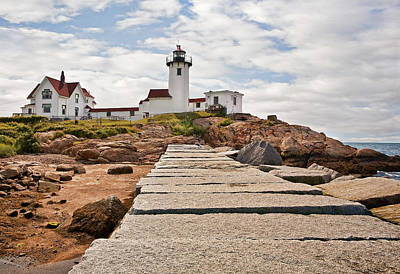 Beacon Photograph - Eastern Point Lighthouse by Marcia Colelli