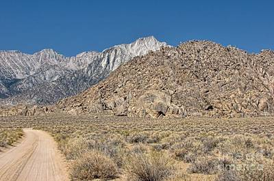 Photograph - Eastern Sierra Nevadas And The Alabama Hills by Peggy Hughes