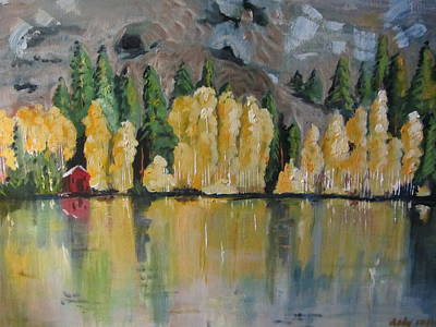 Painting - Eastern Sierra Reflections by Dody Rogers