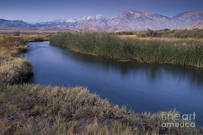 Owens River Photograph - Eastern Sierras And Owens River by John Shaw