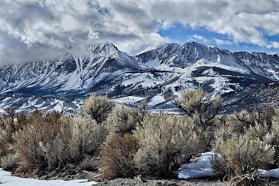 Eastern Sierras In Winter Art Print