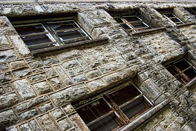 Photograph - Eastern State Windows by Michael Dorn