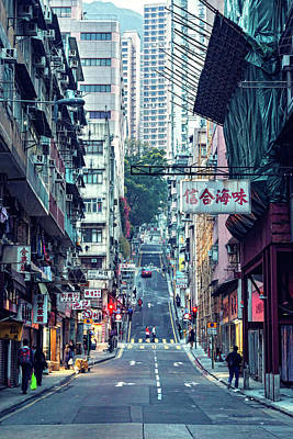 Hong Kong Wall Art - Photograph - Eastern Street by Mendowong Photography