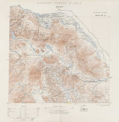 Cartography Photograph - Eastern Turkey by British Library