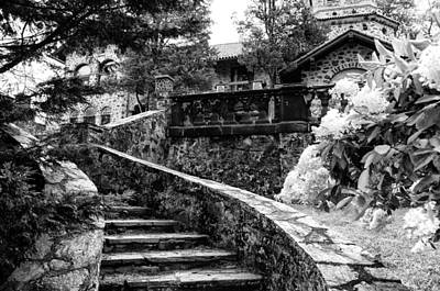 Eastern University - Stairs In Black And White Art Print by Bill Cannon