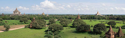 Eastern View Of Stupas And Temples Print by Panoramic Images