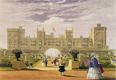 Garden Drawing - Eastern View Of The Castle And Garden by James Baker Pyne