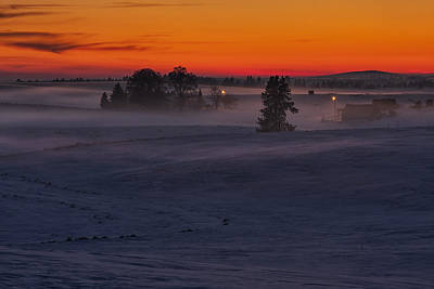 Photograph - Eastern Washington Winter Sunset by Mark Kiver