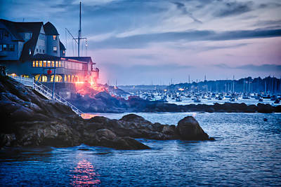 Photograph - Corinthian Yacht Club Marblehead Harbor Illumination by Jeff Folger