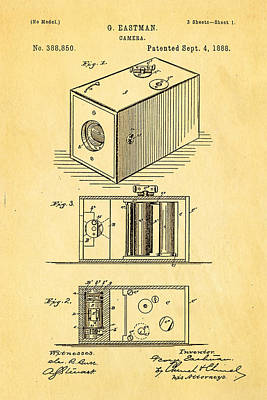 1888 Photograph - Eastman Camera Patent Art 1888 by Ian Monk