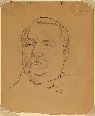 Eastman Johnson, Grover Cleveland Recto Art Print by Quint Lox
