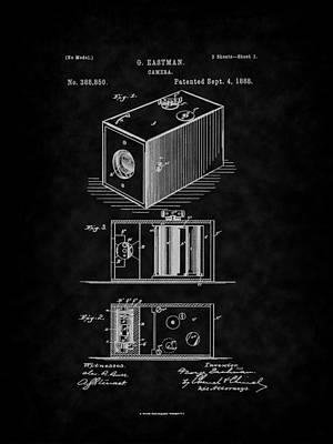 Digital Art - Eastman's 1888 Camera Patent Art-bk by Barry Jones