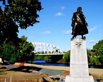 Photograph - Easton Pa - Christopher Columbus Monument by Jacqueline M Lewis