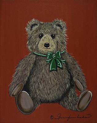 Painting - Easton's Teddy by Jennifer Lake