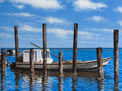 Art Print featuring the painting Eastpoint Gray by Rick McKinney