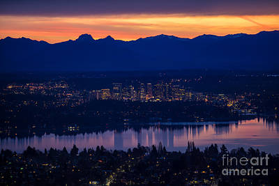 Medina Lake Photograph - Eastside Bellevue Sunrise by Mike Reid
