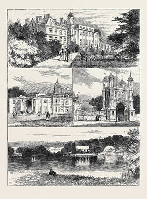 Garden Entrance Drawing - Eastwell Park, Country Seat Of The Duke And Duchess by English School