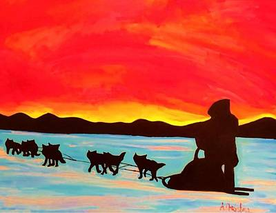 Easy Rider Painting - Easy Rider by Shelia Gallaher Chancey