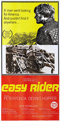1960s Poster Art Photograph - Easy Rider, Australian Poster, Peter by Everett