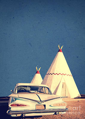 Motel Photograph - Eat And Sleep In A Wigwam by Edward Fielding