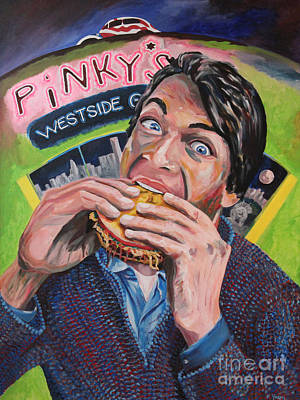 Hamburger Painting - Eat At Pinky's by Robert Yaeger