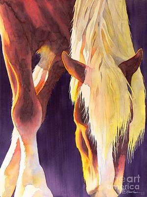 Spirit Horse Painting - Eat Like A Horse by Robert Hooper