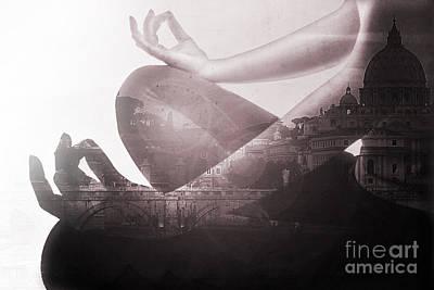 Eat Pray Love In Rome Art Print by Emanuela Carratoni