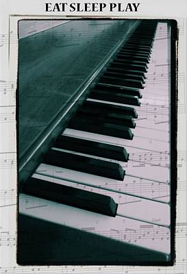 Eat Sleep Play Piano Art Print by Dan Sproul