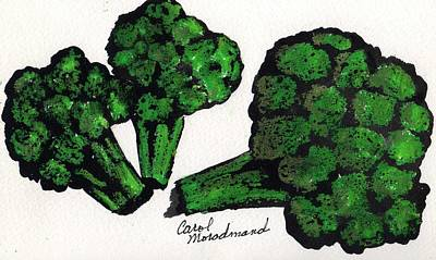 Broccoli Painting - Eat Your Broccoli  by Carol Lindquist