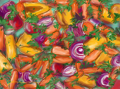 Painting - Eat Your Veggies by Jean Pacheco Ravinski